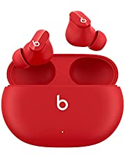 Beats Studio Buds – ワイヤレスノイズキャンセリングイヤホン – アクティブノイズキャンセリング、IPX4等級、耐汗仕様のイヤーバッド、AppleデバイスとAndroidデバイスに対応、Class 1 Bluetooth、内蔵マイク、8時間の再生時間 – Beatsレッド
