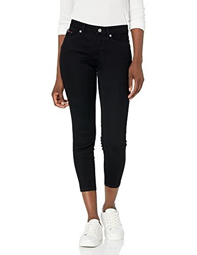 Tommy Hilfiger Women's Skinny Crop Jean, Black, 30