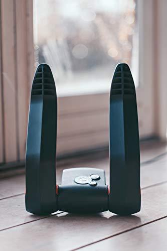 Secador de zapatos Go4Dry con ozono contra la humedad, el olor y las bacterias. 2 programas para zapatos deportivos y de piel, programa automático, fácil manejo, ahorra espacio ya que se puede plegar.