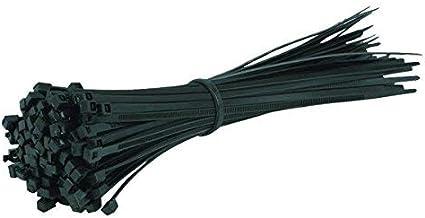 Excalibur Lot de 100 serre-c/âbles en nylon et plastique Noir 100 mm//150 mm//200 mm//250 mm//300 mm