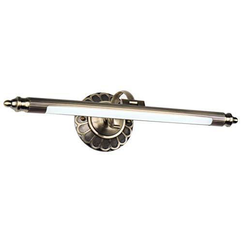 YUNLVC LED Spiegelleuchte Retro Metall Spiegellampe Schminklicht Einstellbar Spiegelbeleuchtung Badezimmer Spiegelschrank Schminktisch Spiegellicht Wandleuchte- Warmwhitelight50cm8w