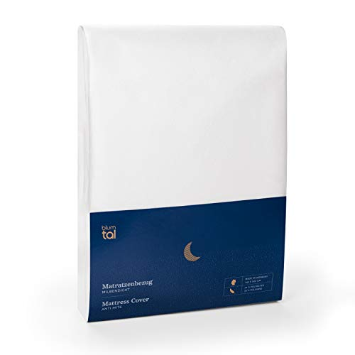 Blumtal Matratzenbezug für Allergiker 120 x 200cm, Milbenbezug - Matratzenschutz Encasing, atmungsaktiv
