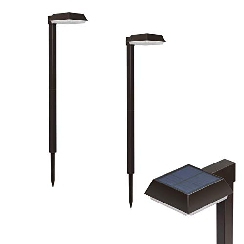 Bobcat Lighting Solar Pathway Lights Super Bright 300 lumens with 2-in-1 Warm White and Daylight Modes, Solar Lights for Outdoor Path or Sidewalk, 2 Year Warranty (2 Pack)