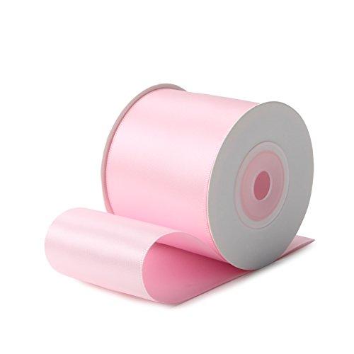 RUSPEPA Nastro di Raso Double Face - 50mm X 9m, 123 Rosa Perla