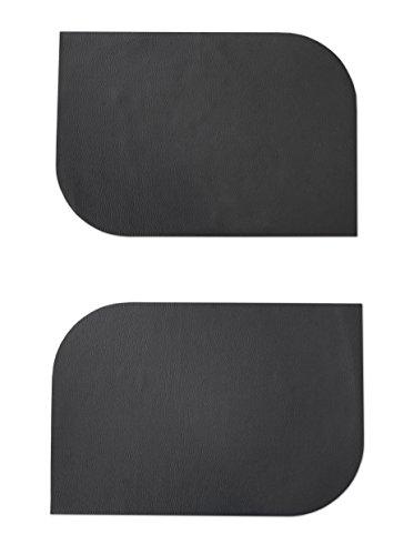 Design Ensemble de 8 Sets de Table Simili Cuir Noir