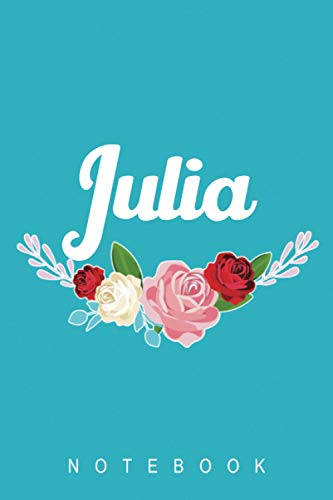 Julia Notebook: Lined Writing Notebook / Journal with Personalized Name (Julia) , 120 Pages, 6x9inch, Soft Cover, Matte Finish - Perfect Gift