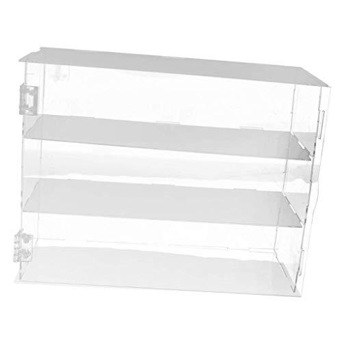backbayia caja vitrina de tienda venta AU détail muñeca vitrina caja DIY bandeja para figuras, joyas, maqueta Talla:32x10x24cm