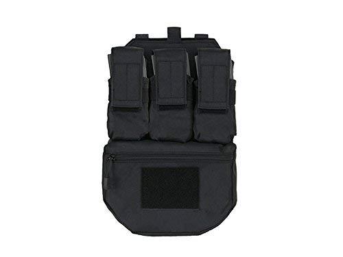 Airsoft Assault Back Panel - Rucksack Rückenplatte für Molle Westen Paintpall MilSim (Schwarz)