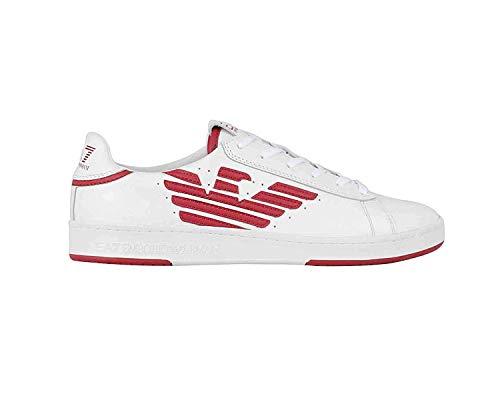 EA7 Sneakers Uomo Mod. X8X043 XK075 A041 Bianco/Rosso 40