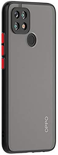Kavisha Tech Oppo A15s Smoke Translucent Protective Shock Proof Smooth Rubberized Ant Slip Matte Hard Back Case Cover for Oppo A15s Oppo A15s Black
