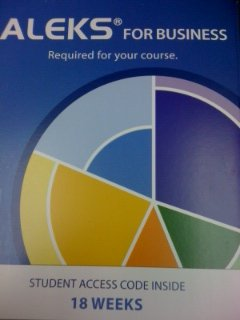 ALEKS for Business 18 Week Student Access Code