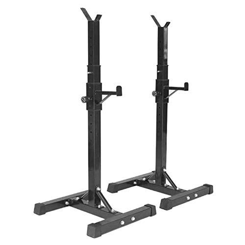 WARLA Squat Rack, hantelständer, langhantelständer, höhenverstellbar (75-163 cm), maximale Belastung 200 kg, Stahlrahmen