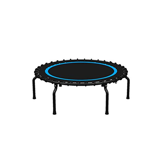 DUOER home-Gartentrampoline Mini Trampolin, 40 Zoll Faltbare Fitness Übung Prahler Sport, Sicherheit Fitness Gym Übung Kinder Erwachsene Indoor Outdoor (Color : Blue)