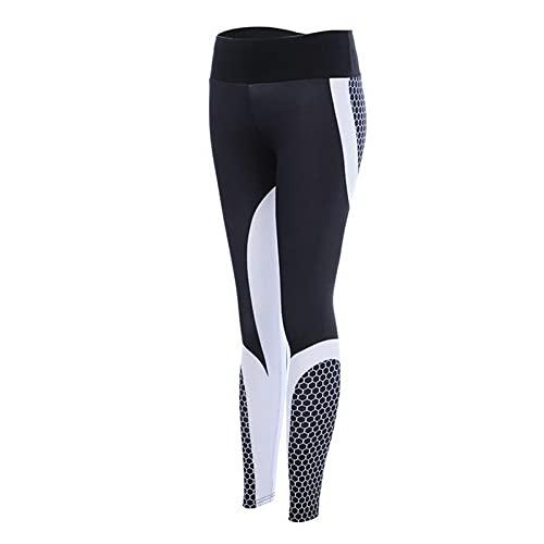 QTJY Pantalones de Yoga Estampados Ajustados para Mujer, Leggings de Gimnasio Push-up, Pantalones de Fitness para Correr al Aire Libre para Celulitis AS