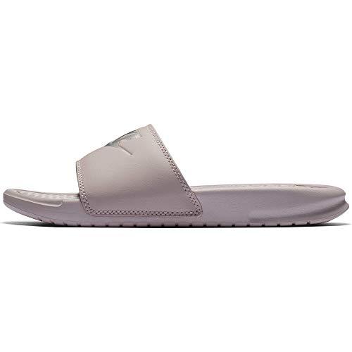 Nike Women's Benassi Just Do It Sandal, Particle Rose/Metallic Silver, 6 Regular US