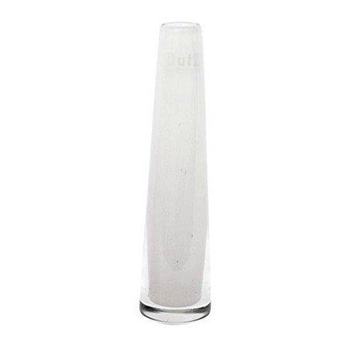 Dutz Vase Weiß Glasvase Solifleur 15 cm D5 cm