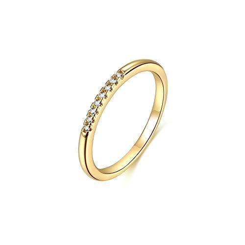 Osiana Eternity Ring mit KRISTALLEN, Damen Gold Zirkonia Ewigkeitsringe Verlobungsringe Eheringe Trauringe Memoirering Größen 49