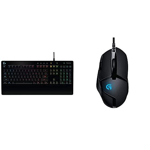 Logitech G213 Prodigy Gaming Keyboard, Rgb Lightsync Backlit Keys, Spill-Resistant & G402 Mouse Gaming Hyperion Fury, 4.000 Dpi, Design Leggero