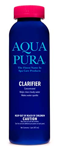 AQUA PURA Clarifier | for Spas & Hot Tubs | Corrects Cloudy Water Conditions | Hot Tub Maintenance Chemicals & Supplies | 1 Pint