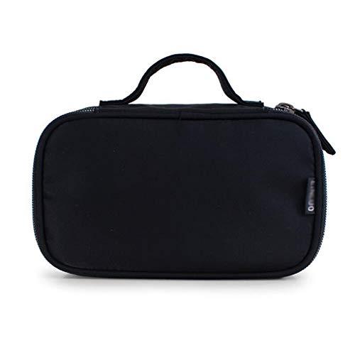 DSJSP Double-Couche Sac cosmétique, Sac de Stockage Portable, Voyage Out, Taille, Noir, Rouge Sac cosmétique (Color : Black, Size : M)