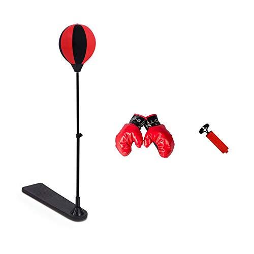 Zengbuks Tragbare Größe Stressabbau Boxing Punch Pear Speed Ball Entspanntes Boxen Boxsack Speed Ball Set Boxtraining Tools - Rot & Schwarz