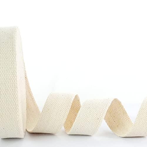 Trimit Rollo de 10 m de cinta de algodón crudo de 40 mm, Mezcla