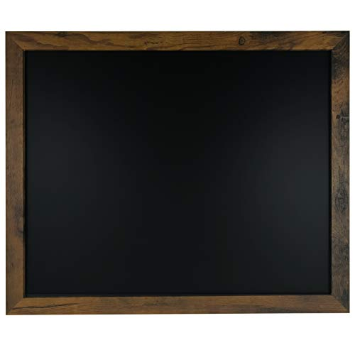 "Loddie Doddie Magnetic Chalkboard - 18"" x 22"" Magnetic Chalkboard for Wall Decor - Easy to Erase Chalkboard Rustic Frame for Kitchen, Big Framed Magnet Blackboard - Easy Hanging Black Chalkboards"