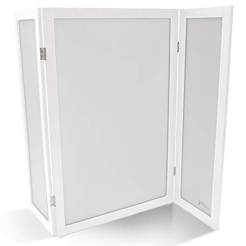 PetFusion ModestCat Katzentoiletten-Sichtschutz, 91 x 122 cm, Weiß