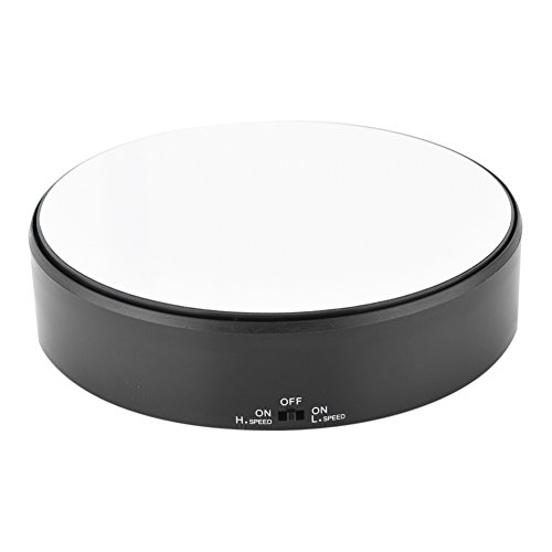 360° Rotating Display Stand Electric Mirror Surface Speed Adjustable Display Stand for Shop Home Display 15kg Load Bearing Battery Powered