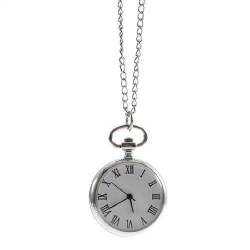 Reloj de Bosillo / Collar Dial Redondo Cuarzo Movimiento Mecanico Numero Roma para Hombre Mujer Chica