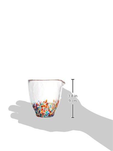 アデリア津軽びいどろ酒器盃ギフトセット片口250ml×1個、盃85ml×2個ねぶた(金箔入)化粧箱入日本製FS-71551