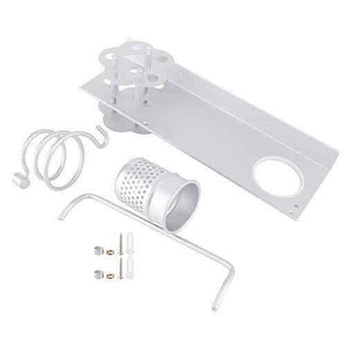 Kuuleyn Accesorios de baño Aluminio Espacial, Aluminio Espacial Montado en la Pared Estante de Almacenamiento para baño Toallero Caja de pañuelos Accesorios