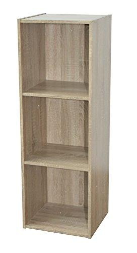 Alsapan - Scaffale cubico 3 x 1, in melamina, 91 x 31 x 29,5 cm, Finiture in Rovere