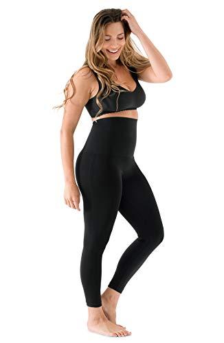 Belly Bandit - Mother Tucker Leggings for Women - Slim and Shape Your Silhouette - Black, Large