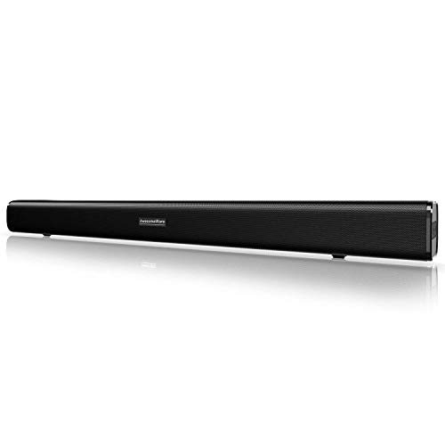 Sound Bar, Bluetooth Soundbar Audio TV Speaker - Wired and Wireless Connection, 29.5-inches 2.0 Channel Home Theatre Sound System with 50 Watts Speakers, AUX/Optical/USB/BT Input Modes Remote Control