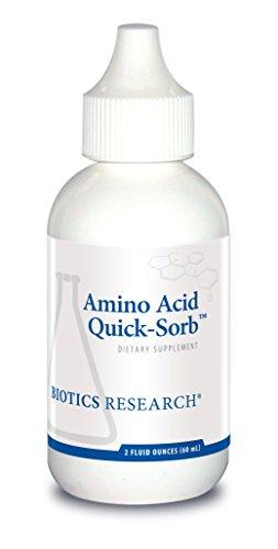 Biotics Research Amino Acid Quick Sorb Liquid Formula, Highly Absorbed, Glycine, L Alanine, L Arginine HCl, L Lysine HCl, L Proline, L Histidine HCl, L Serine, L Threonine, L Valine 2 Fluid Ounces