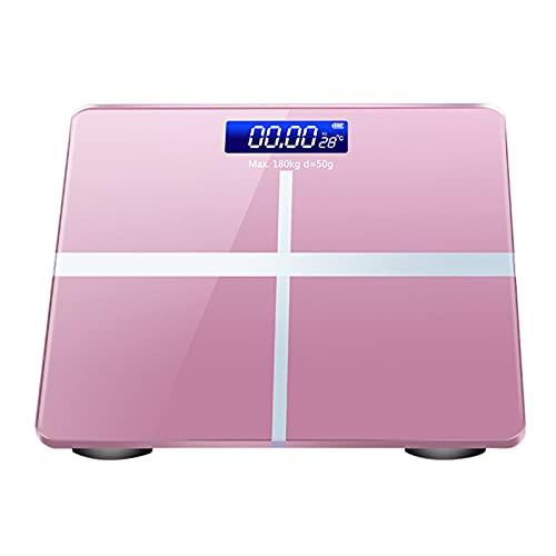 DHTOMC Bilancia da bagno da donna, con display LCD, sensore ad alta precisione
