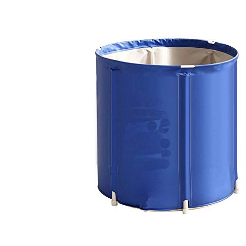 Bañera plegable bañera piscina bañera spa baño de vapor portátil-Azul 60 * 60