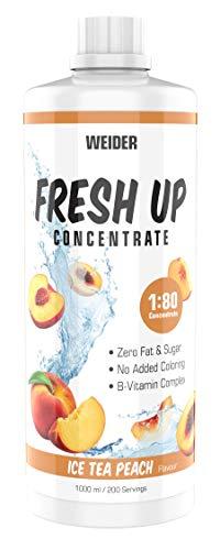 Weider Fresh Up Ice Tea Peach Getränkekonzentrat , zuckerfrei & ohne Farbstoffe, mit Vitaminen, 1 Liter