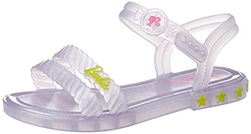Sandália Barbie Candy Bag, Grendene Kids, Meninas, Branco Glitter, 34