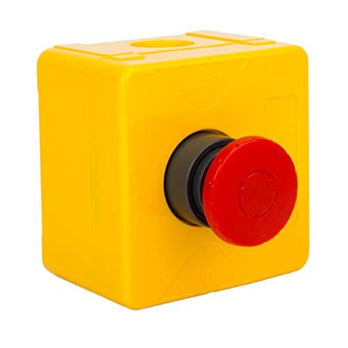geba KDT 1N/V2 - Interruttore a pulsante per montaggio a parete, con alloggiamento ISO e 1 apertura, non illuminato