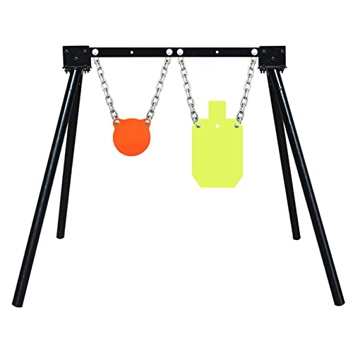 Highwild Steel Target Stand AR500 Shooting Target System (1 Stand, 2 Mounting Kits & 6' Gong + 7'x 12'Torso)