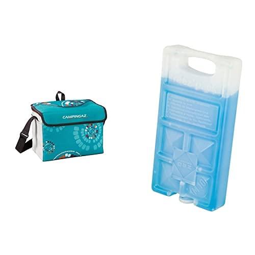 Campingaz Minimaxi Ethnic Nevera Flexible, Unisex Adulto, Multicolor, 9 L + 9377 Acumulador Frio, Unisex, Azul, 18 X 9.4 X 3.2 Cm