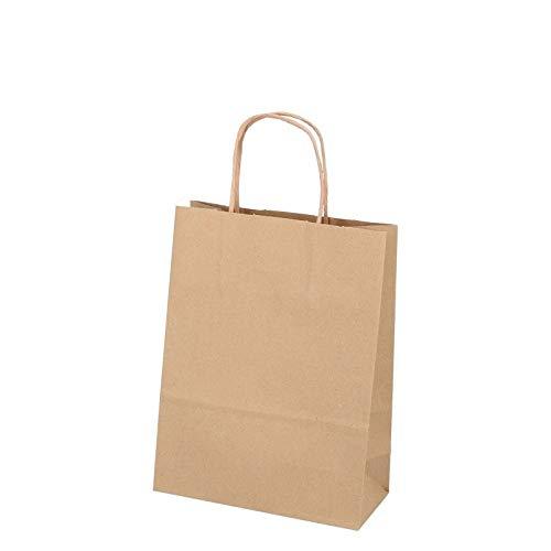 DeinPack Umweltschonende Papier Tragetaschen klein I Papiertüten Geschenktüten Papiertragetaschen biologisch abbaubar, kompostierbar I 50 x braune Papier Tüten 18 x 8 x 24 cm