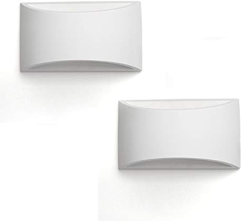 LLZI Wandleuchte Kreative Einfache Schlafzimmer Nacht Wohnzimmer Esszimmer Hotel Studie Flur Korridor Led-leuchten (2 Paket)