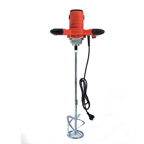 NICCOO Mezclador de pintura y mortero de 2100 W, 0 – 800 rpm, varilla en espiral, agitador para mezclar pintura de mortero y hormigón, 6 niveles de velocidad ajustable, 3 velocidades