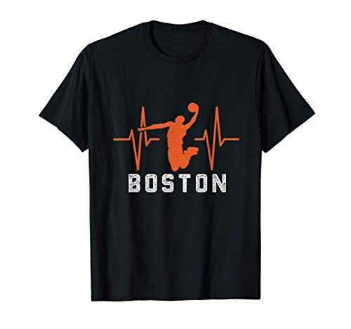 Gift ideas For the Celtics lovers i heart boston basketball T-Shirt