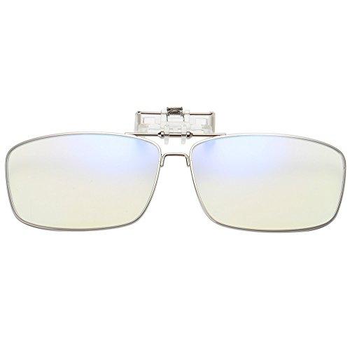 Blue Light Blocking Computer Lens Anti Blue Light Clips for Anti Eye Strain UV Reading Glass Unisex (Men/Women)