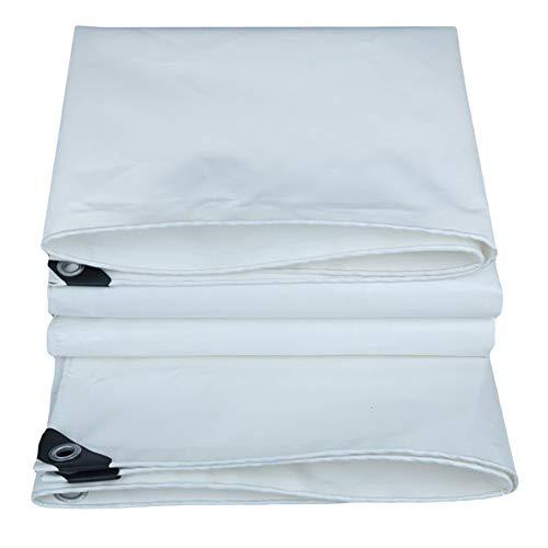 Tissu Blanc d'ombrage au Soleil de PVC, bâches extérieures intérieures, bâche de Protection Solaire réversible for la Voile d'ombrage d'auvent de Camion 560g / M² (Size : 4m×4m)