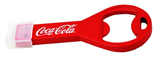 Coca Cola COKE-USBOPENBOTTLE-32-C flesopener Flash Drive drive USB 2.0-stick 32GB rood/wit